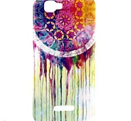 Dream Catcher Pattern TPU Soft Case with Anti-dust Plug and Stand for Wiko Rainbow