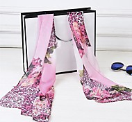 Women's Beautiful Color Leopard Leopard Printed Chiffon Scarves(Assorted Color)