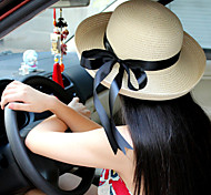 Women's Vintage/Casual Bowknot Summer Straw Bucket Hat