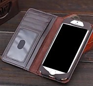 Books Restoring Ancient Ways Style Protective Genuine Leather Leather Case Card Slot for iPhone 6