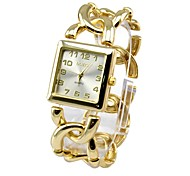 Women's Bracelet Watch Quartz Analog Sparkle Square Dial 2015 New Popular Style Sling Chain Band