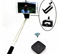 Bluetooth затвор + выдвижной КПК Селфи палка монопод + мобильный держатель для Iphone и других