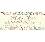 Personalized Product Labels / Address Labels Gray Pattern of Film Paper