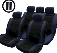 TIROL  New Car Seat Cover Black Blue  14pcs/Set Front Rear Car Seat Covers Set  Universal
