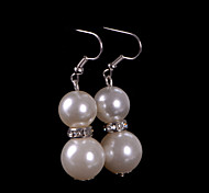 Drop Earrings Women's Pearl Earring Rhinestone