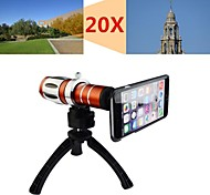 Apexel Telescope 20X Zoom Telephoto Manual Focus Long Focal Camera Lens for iPhone 6 Plus with Back Cover and Tripod