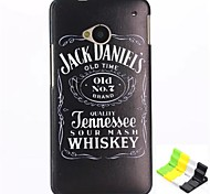 Jack Daniels Pattern PC Hard Back Cover Case and Stand for HTC One(M7)