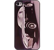 cas dur de conception en aluminium de voiture de bulle pour iPhone 4 / 4S