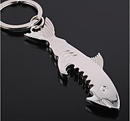 Shark Shaped Bottle Opener Keychain