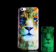 Lion Pattern Glow in the Dark Hard Case for iPhone 6