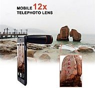 12X Telephoto Manual Focus Camera Lens for iPhone 6 with Hard Back Case (Assorted Color)