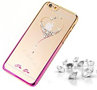 BIG D Love Pattern Diamond Back Cover for iPhone 6