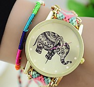 The New Women's Original Ethnic Woven Korean Version Exquisite Handmade DIY Elephant  Bracelet Watch Cool Watches Unique Watches