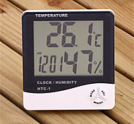 "3.9 ""lcd medidor de humedad de temperatura digital con despertador (1 x AAA)"