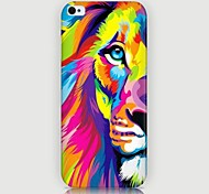 Colorful Lion Pattern Back Case for iPhone5/5S