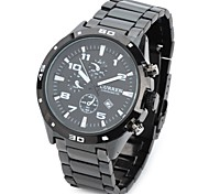 Men's Stylish Water Resistant Quartz Wrist Watch  (Black) Cool Watch Unique Watch Fashion Watch