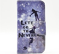 Peter Pan Pattern PU Leather Full Body Case with Card Slot and Stand for  Samsung Galaxy S5 Mini