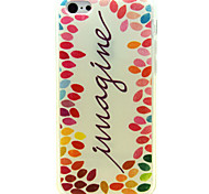 Colorful Little Letters Pattern Soft Case for iPhone 5C