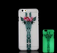 Deer Pattern Glow in the Dark Hard Case for iPhone 6 Plus