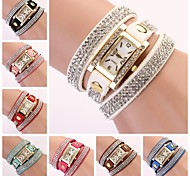 Women's Watch Rectangular Diamond Dial Rhinestone Band Strap Watch Cool Watches Unique Watches Fashion Watch