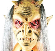 Red Eyes with Grey Hair Latex Mask for Halloween