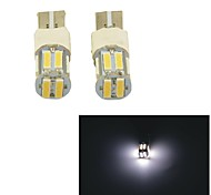 Carking™ T10-7014-10SMD Flash Car LED Rome Lamp Clearance Lamp-(2PCS)White Light
