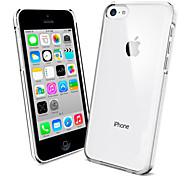 cor sólida caso de volta transparente para iphone 5c