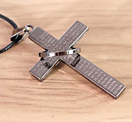 Fashion The Cross Passage Ring Pendant Necklace