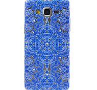 samsung galaxy grandes flores azules compatibles G530 principales figuran con diamante diseño TPU caso de la contraportada suave