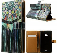 Colorful Murals Pattern Wallet Card PU Case with Stand for Microsoft Lumia 535