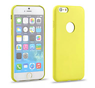 Solid Color Sign Hollow Yellow TPU Case for iPhone6