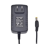 24W 12V 2A AC Power Adapter for LED Light Bulb and Surveillance Security Camera (5.5x2.1mm/100~240V/US Plug)