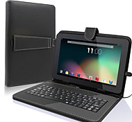 "9"" PU Leather Universal Stand Tablet Case with Keyboard + Micro USB Keyboard for 9 inch Android Tablet PC"