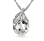 Acacia Spring Fashion Short Necklace Plated with 18K True Platinum Clear Crystallized Austrian Crystal Stones