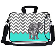 "Elonbo Elephant And Damaskeen Carrying Handle & Removable Shoulder Strap Laptop Bag for 13"" Macboob pro HP"