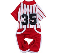 Fashionable Vertical Stripe Pattern Cotton Tracksuit for Pets Dogs (Assorted Colors and Sizes)