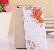 Fashion Diagonal Elf pink butterfly Case Bowknot Pattern Rhinestone Case for iPhone6