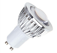 5W GU10 LED Par Lights MR16 1 COB 450 lm Warm White / Cool White / Natural White Dimmable AC 85-265 V 1 pcs