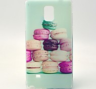 Hamburger Pattern TPU Soft Case Cover for Samsung Galaxy NOTE4