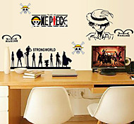 Fashion Cartoon One Piece PVC Wall Stickers Wall Art Decals