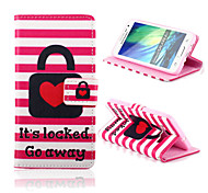 Locked Love Pattern PU Leather Full Body Case with Card Slots And Stand Case for  Samsung Galaxy A3