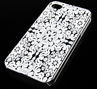 Snowflake Pattern Transparent Back Case for iPhone4/4S