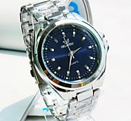 orologio esplosione quarzo di affari di modo cinturino in acciaio quadrante rotondo uomini (colori assortiti)