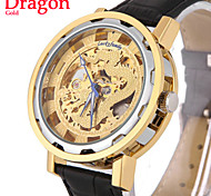 Men's Mechanical Watch Automatic Self-Wind Golden Skeleton Sports Wrist Watch Classic Dragon Dial (Assorted Colors)