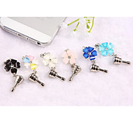 Metal Mixed Color Petals Dustproof Plug Style for iPhone and iPad (Random Colors)
