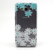 samsung galaxy grandes flores azules y blancas de primera G530 compatibles con diamante diseño TPU caso de la contraportada
