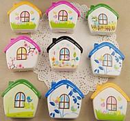 Small House Multi Color Plastic Cantact Lens Case (Random Color)