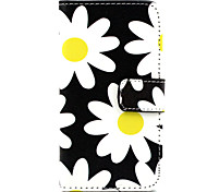Flower Pattern PU Leather Case with Magnetic Snap and Card Slot for Nokia Lumia 630