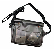 Outdoors PVC Transparent Black Waterproof Waist Bag Pouch for Cellphone DC