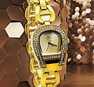 la montre à quartz de mode bracelet des femmes (couleurs assorties)